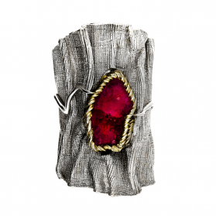 Pierścionek srebrny z rubinem ARTIS G.KABIRSKI GA R UNICAT RUBIN próba 925