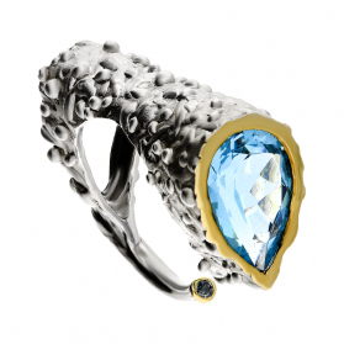 Pierścionek srebrny z topazem ARTIS G.KABIRSKI GA R105 TOPAZ próba 925