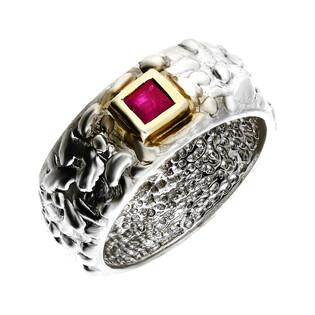 Pierścionek srebrny z rubinem ARTIS G.KABIRSKI GA R255 RUBIN próba 925