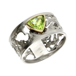 Pierścionek srebrny z oliwinem ARTIS G.KABIRSKI GA R133 OLIWIN próba 925
