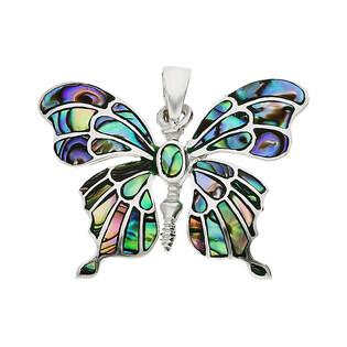 Zawieszka srebrna motyl masa perłowa NI XX19 Z próba 925