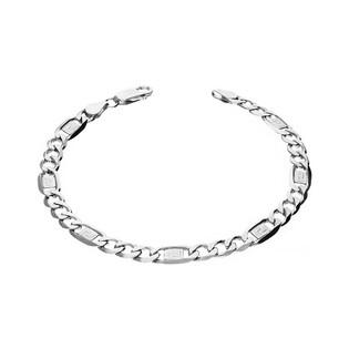 Bransoleta męska ze srebra fantazja figaro+greka nr BC 1310-150 3+1 greka próba 925