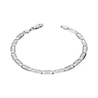 Bransoleta męska srebrna pancer z greką nr BC 1310-120 1+1 greka próba 925