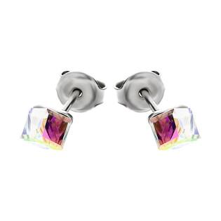 Kolczyki srebrne  GRACE z kryształem Swarovski RD 2 R104-1 próba 925