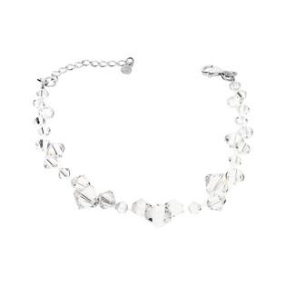 Bransoleta GRACE z kryształami Swarovski RD 461-1 crystal próba 925