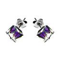 Kolczyki srebrne GRACE z kryształami Swarovski RD 3 R104-1 hel próba 925