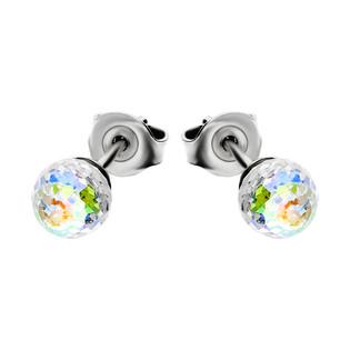 Kolczyki srebrne GRACE z kryształem Swarovskiego RD 2 R140-1 próba 925