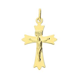 Złoty krzyżyk z wizerunkiem CB C-528 próba 585