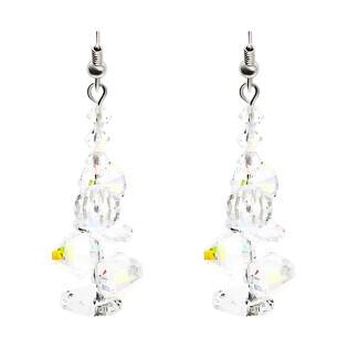 Srebrne kolczyki wiszące GRACE z kryształkami RD 376-1 próba 925 Sezam - 1