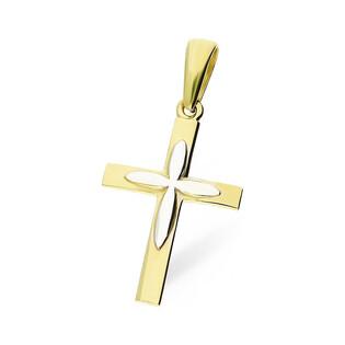 Krzyżyk złoty gładki nakładany MZ T23-P-18-YW próba 585
