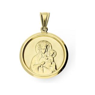 Medalik złoty z wizerunkiem Matki Boskiej Częstochowskej DJ40-1 próba 585