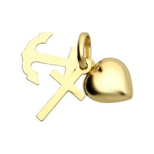 Medalik złoty Wiara Nadzieja Miłość nr OS 36-354L próba 585