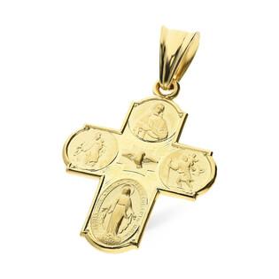 Krzyżyk złoty Cztery Drogi SF19-1 próba 585 Sezam - 1