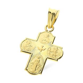 Krzyżyk złoty Cztery Drogi SF19 próba 585 Sezam - 1