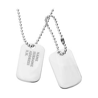 Naszyjnik męski srebrny nieśmiertelnik podwójny nr PW 265