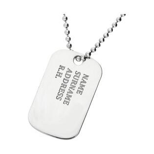 Naszyjnik męski srebrny nieśmiertelnik PW 265-1