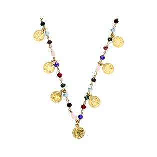Naszyjnik różaniec kulki i monety PW 144 GOLD próba 925