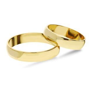 Obrączka złota gładka handmade YE OG4 próba 585