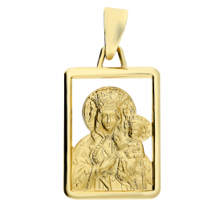Medalik złoty z wizerunkiem Matki Boskiej Częstochowskiej nr CB SF12