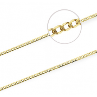 Łańcuszek złoty pancer nr VK GAXPDE 0+1 040 próba 585 Sezam - 1