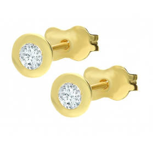 Kolczyki złote z cyrkoniami, sztyfty nr AR ICE4233-FCZ próba 333 Sezam - 1