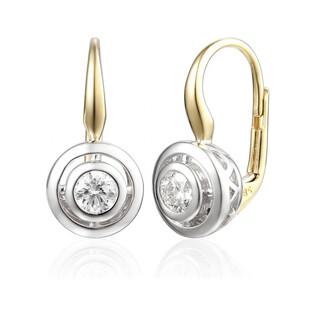 Kolczyki złote z brylantami nr AW 48325 YW JUBILE próba 585 Sezam - 1