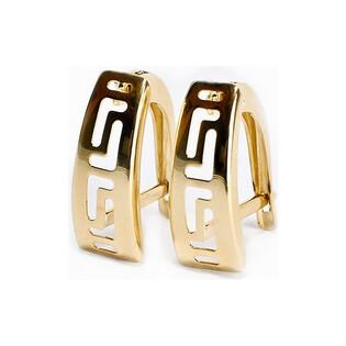 Kolczyki złote blaszki nr AR X4LKSE0202 próba 333 Sezam - 1