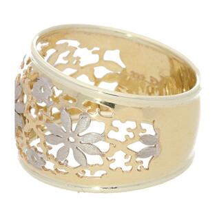 Pierścionek złoty ażurowy RICAMO nr AR 200203 próba 333 Sezam - 1