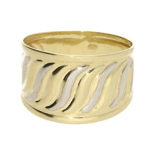 Pierścionek złoty blaszka dwukolorowa AR XSTR208751-YW-P próba 333 Sezam - 1