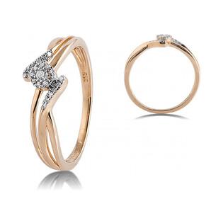 Pierścionek zaręczynowy MIRAGE bis z diamentami AW 47775 YW próba 585 Sezam - 1