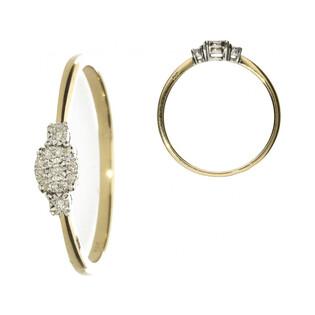 Złoty pierścionek zaręczynowy SWEET z diamentami AW 50282 YW próba 585 Sezam - 1
