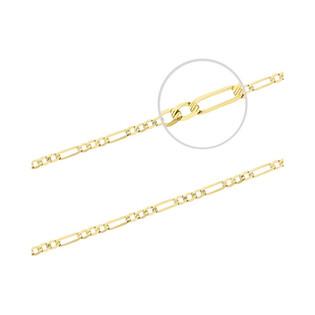 Łańcuszek złoty figaro nr VK GAXPDE 1+3 050 L50 próba 585 Sezam - 1