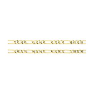 Łańcuszek złoty figaro nr VK GAXPDE 1+3 065 L50 próba 585 Sezam - 1