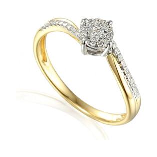 Pierścionek zaręczynowy z diamentami motyw SWEET bis twist AW 55152 YW próba 585 Sezam - 1