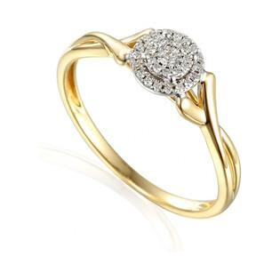 Złoty pierścionek SWEET z diamentami AW 55241 YW próba 585 Sezam - 1