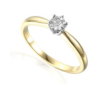 Pierścionek zaręczynowy SOLITER Magic z diamentem AW 55112 YW próba 585 Sezam - 2