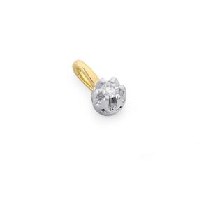 Zawieszka z diamentem Flower nr AW 38513 YW złoto 14 karat Sezam - 1
