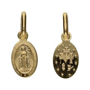 Medalik złoty z wizerunkiem Matki Boskiej Niepokalanej nr CB M-0928 cudowny medalik próba 585 Sezam - 1