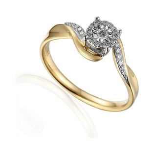 Pierścionek zaręczynowy z diamentami SWEET AW 59042 YW próba 585 Sezam - 1