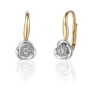 Kolczyki złote z diamentami Mirage nr AW 55154 YW Sezam - 1