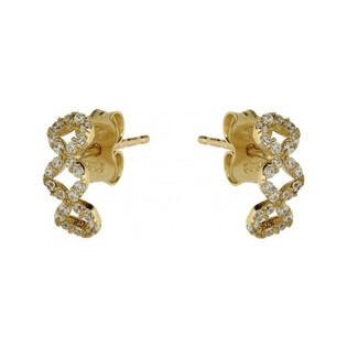 Kolczyki złote damskie nr AR 1481-FCZ próba 585 Sezam - 1