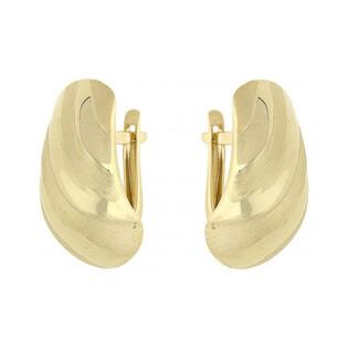 Złote kolczyki blaszki na angielskie zapięcie AR XXNSE7288 próba 333 Sezam - 1
