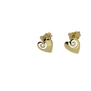 Kolczyki złote w kształcie serca nr AR X3E11760 próba 333 Sezam - 1