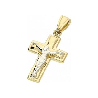 Krzyżyk złoty dla dziecka nr cpróba 585 Sezam - 1