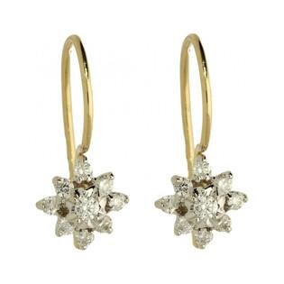 Kolczyki złote z diamentami BRIDELL nr DI 141 Sezam - 1