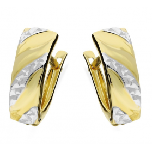 Kolczyki złote blaszki grawerowane nr AR XXDCNSE205238-1-YW próba 585 Sezam - 1
