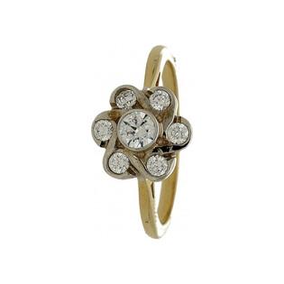 Pierścionek złoty z cyrkoniami nr AS KŁ382 Sezam - 1