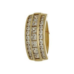 Pierścionek złoty z cyrkoniami nr ME 120 Sezam - 1