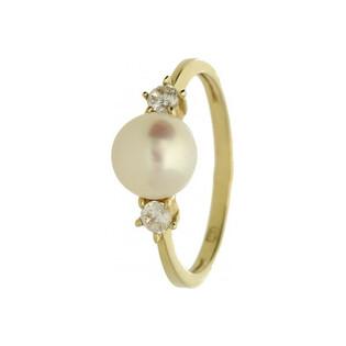 Pierścionek złoty z perłą nr FU 1056 Sezam - 1
