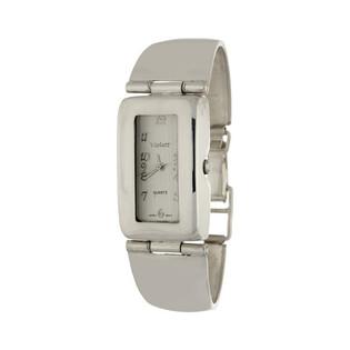Zegarek srebrny męski VIOLETT numerKO 02-08prostokąt b Murano - 1